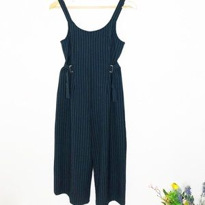 Hem & Thread black pin stripe jumpsuit women SZ:S